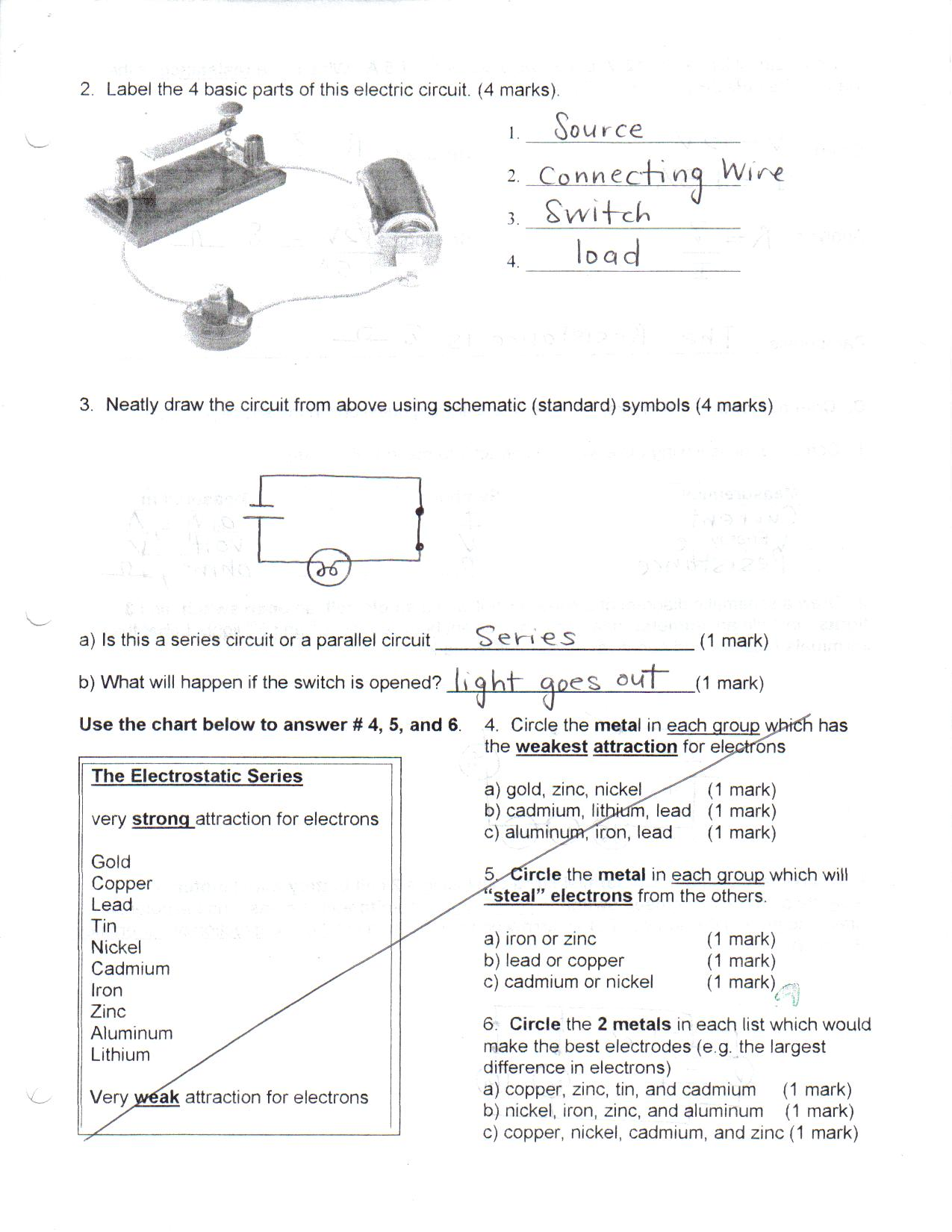 Toxic Science How Do You Make A Parallel Circuit Review B C D E
