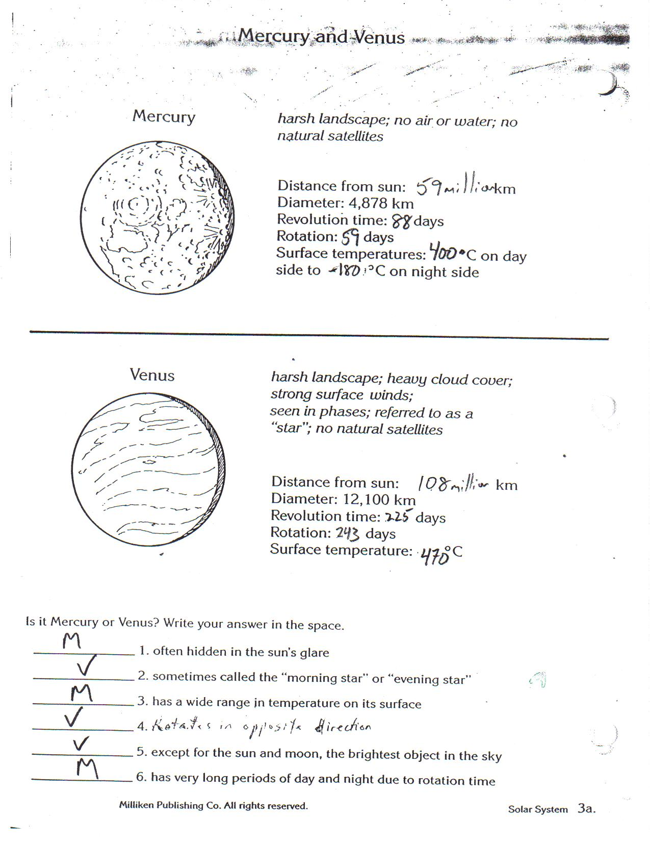 Planet Worksheets a b c.