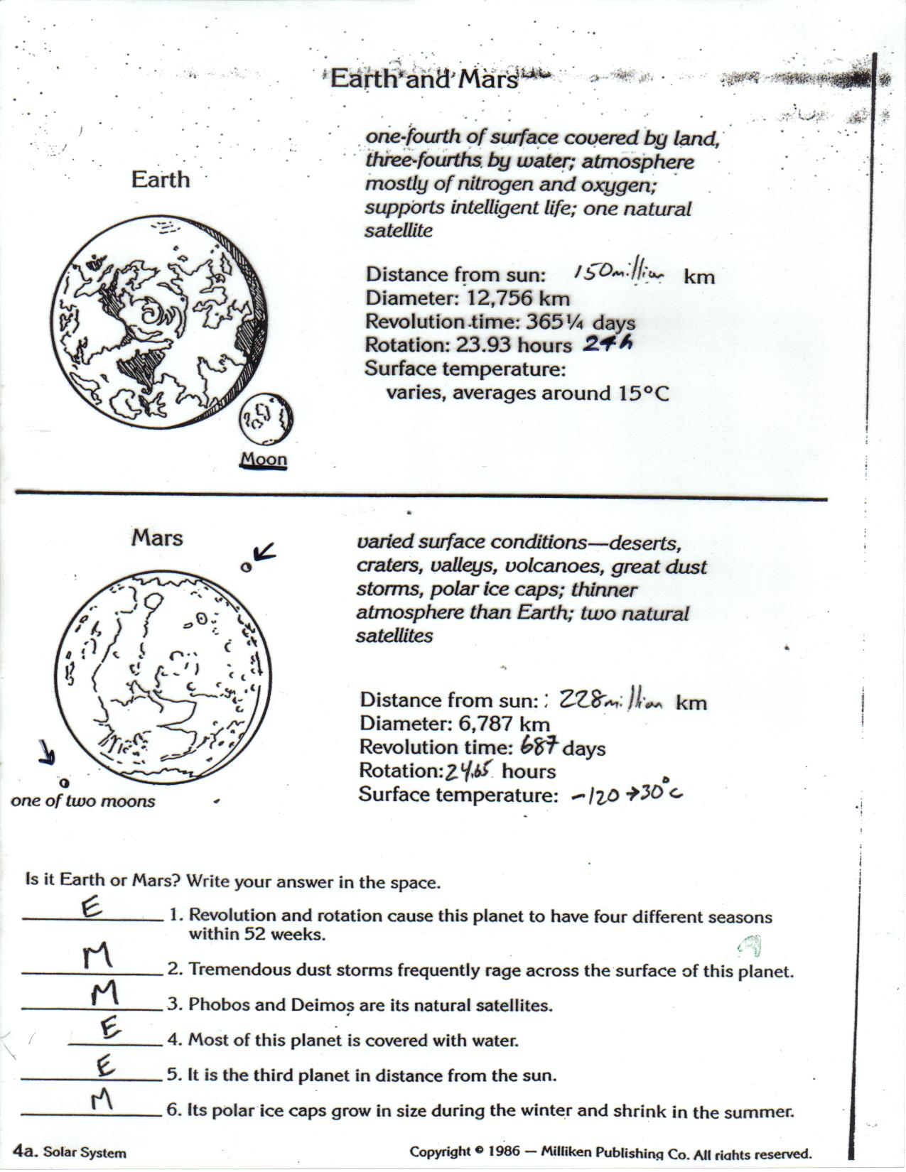 Bill Nye Space Exploration Worksheet (page 4) - Pics about ...