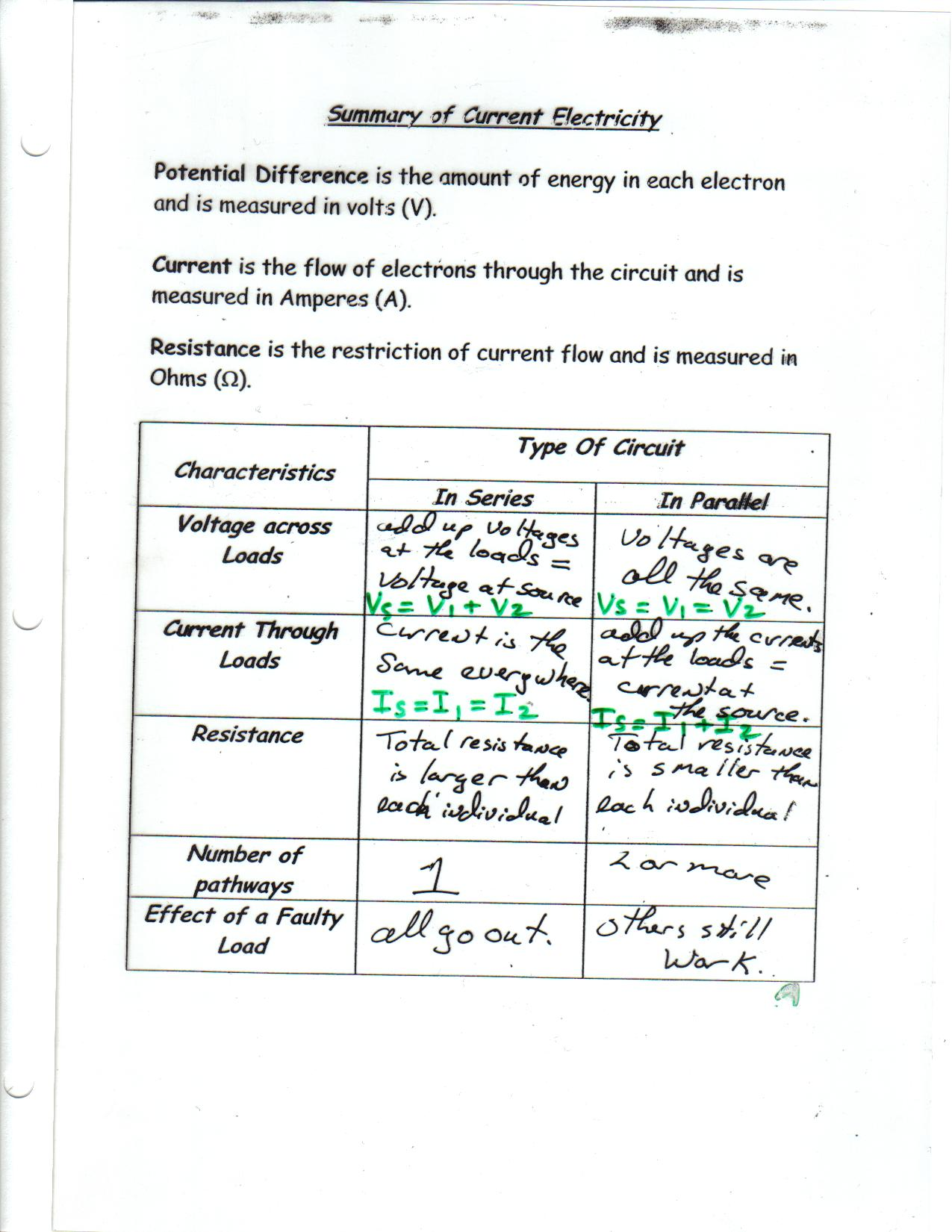 Toxic Science Movement Of Electrons In A Circuit Calculations B C D