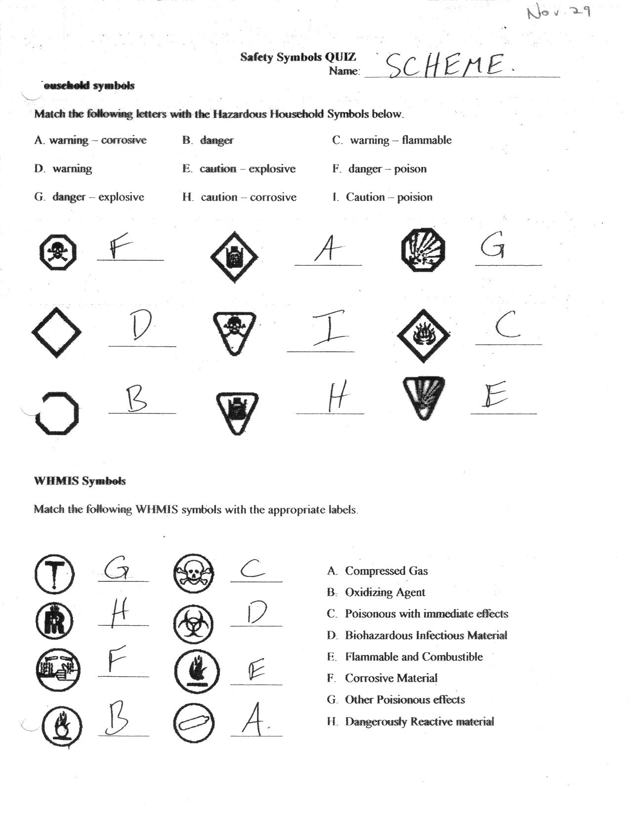Whmis Worksheet Whmis Pictures to pin on Pinterest
