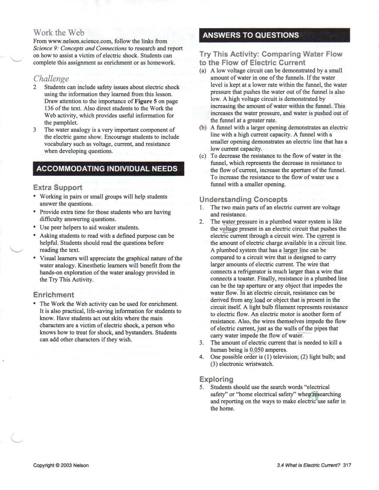 Worksheets Electrical Safety Worksheet toxic science handout tvo video worksheet